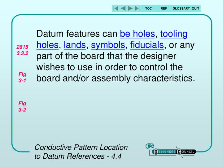 Datum features can