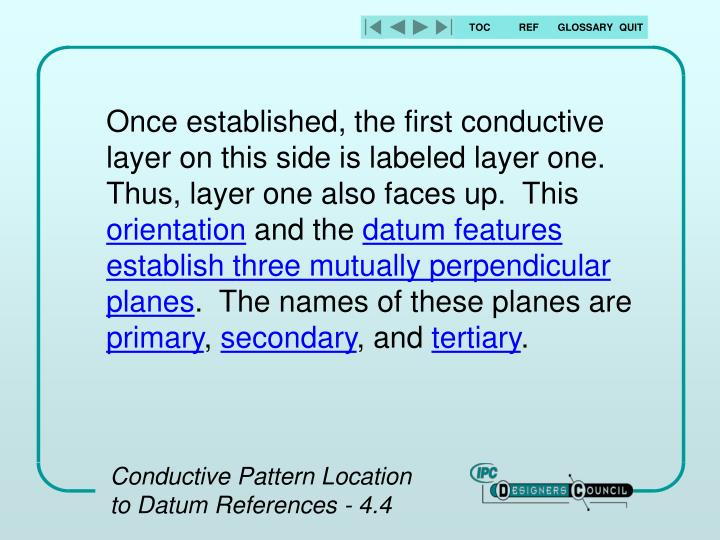 Once established, the first conductive layer on this side is labeled layer one.  Thus, layer one also faces up.  This