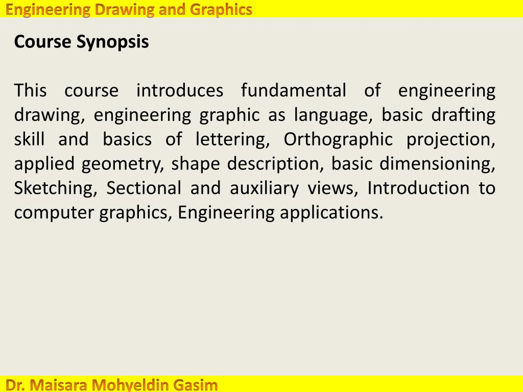 PPT - College of Engineering Engineering Drawing and Graphics ( GE