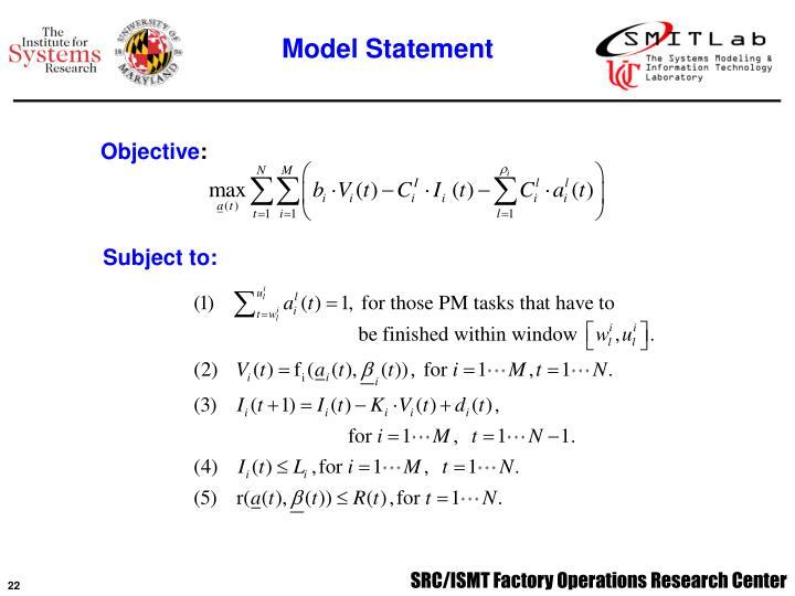 Model Statement