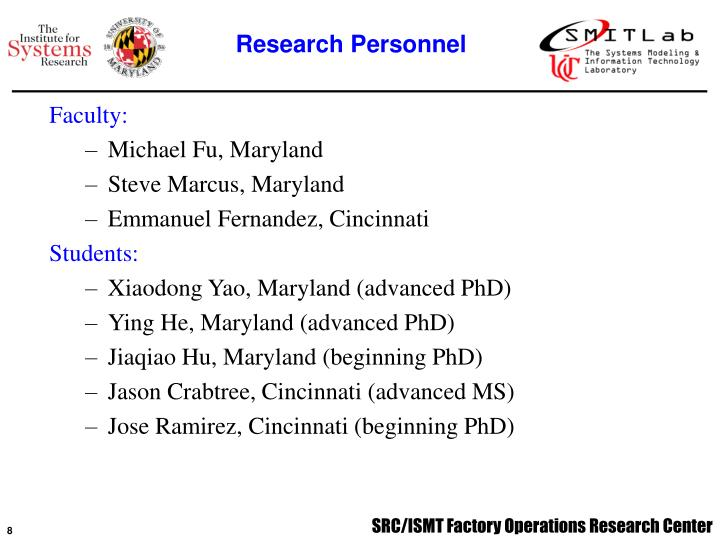 Research Personnel