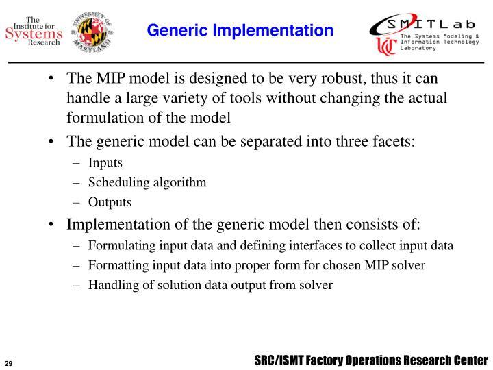 Generic Implementation