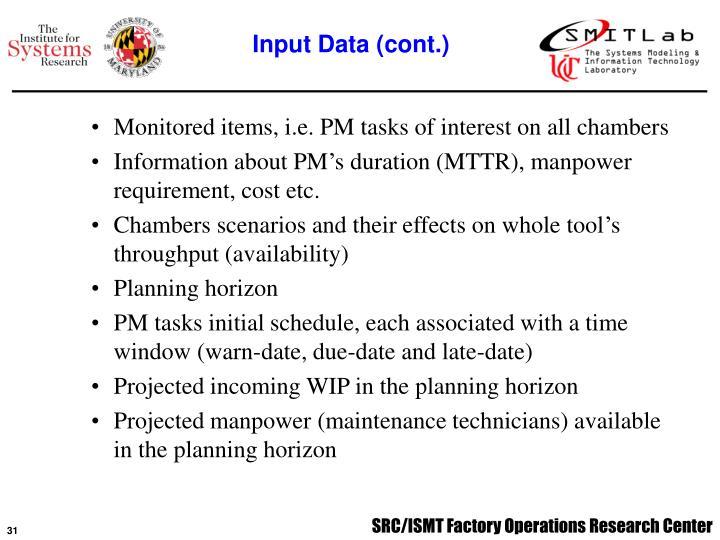 Input Data (cont.)