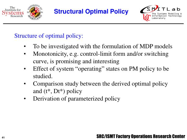 Structural Optimal Policy