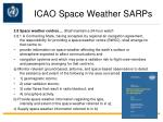 icao space weather sarps