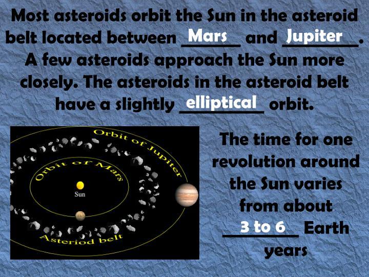 Most asteroids orbit