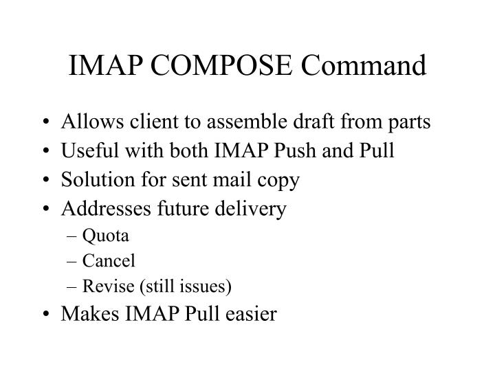 IMAP COMPOSE Command