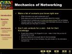 mechanics of networking