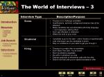 the world of interviews 3