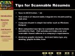 tips for scannable r sum s