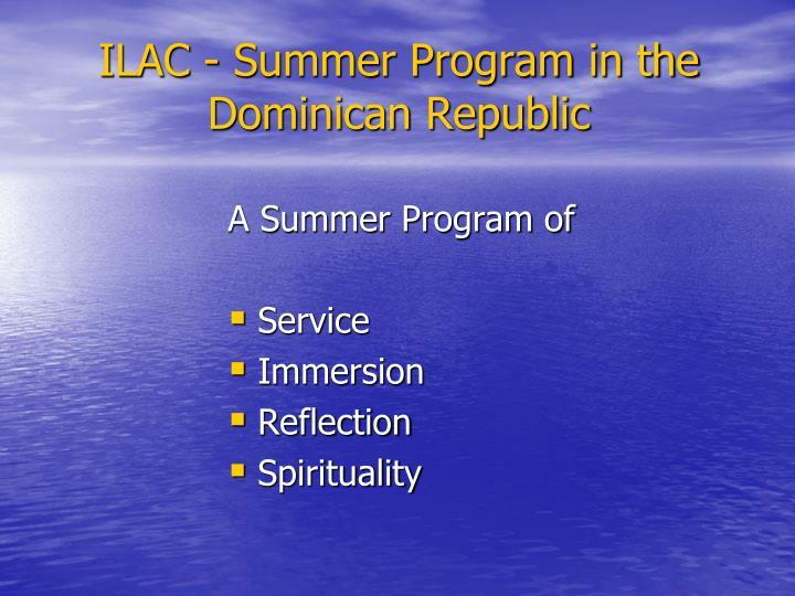 ILAC - Summer Program in the Dominican Republic