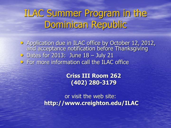 ILAC Summer Program in the Dominican Republic
