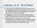 liebman et al error rates