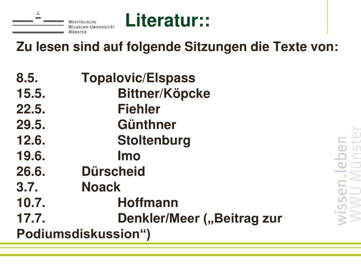 Literatur::