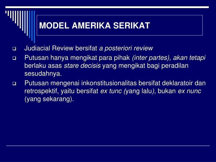 MODEL AMERIKA SERIKAT
