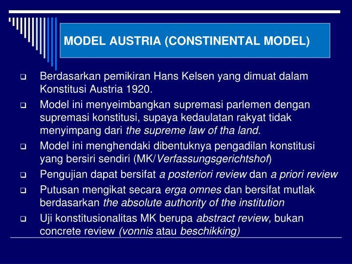 MODEL AUSTRIA (CONSTINENTAL MODEL)