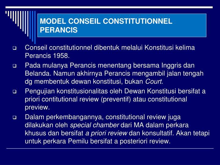 MODEL CONSEIL CONSTITUTIONNEL PERANCIS