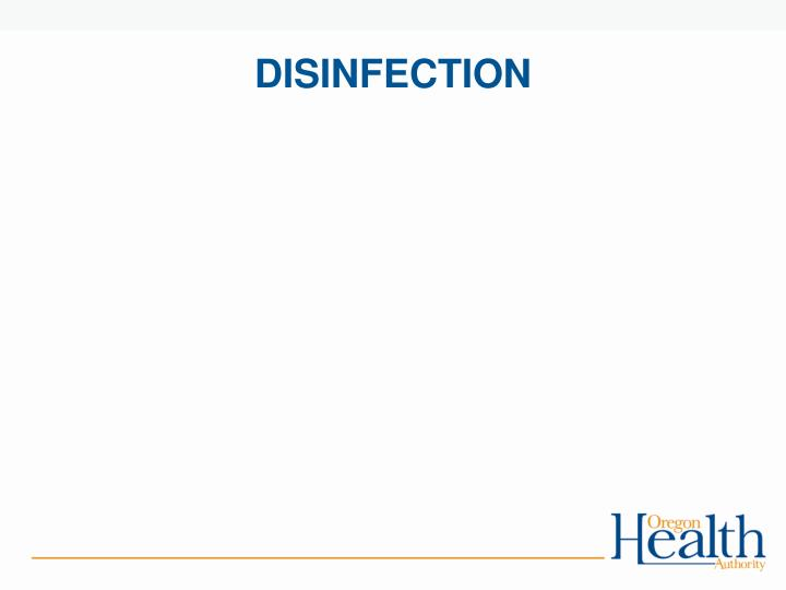 disinfection n.