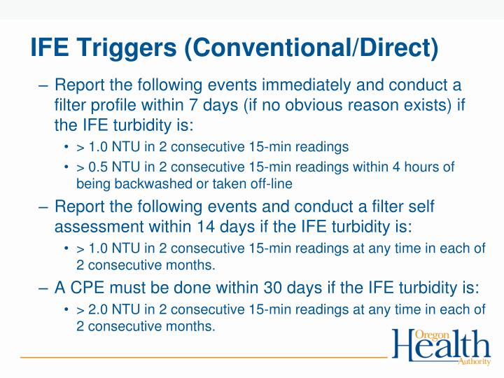 IFE Triggers (Conventional/Direct)