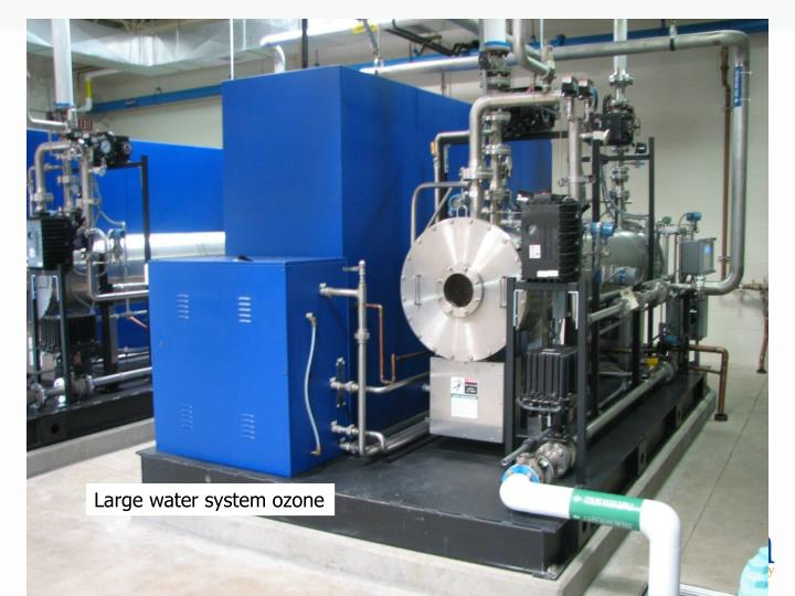 Large water system ozone