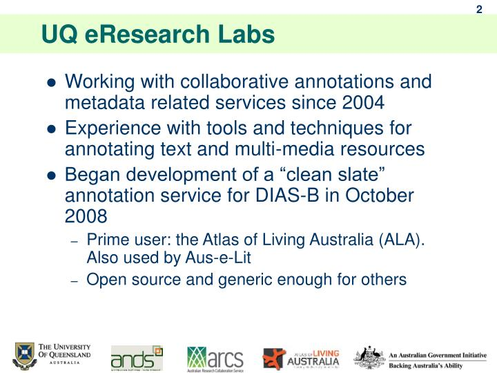 Uq eresearch labs