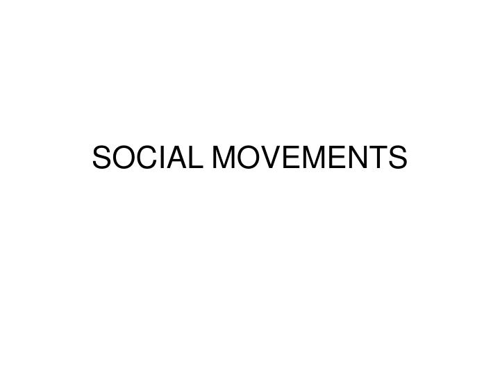 social movements n.