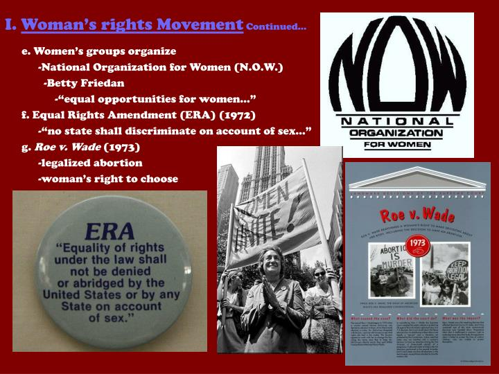 I woman s rights movement continued