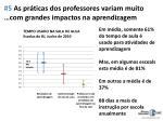 5 as pr ticas dos professores variam muito com grandes impactos na aprendizagem
