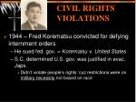 civil rights violations
