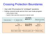 crossing protection boundaries