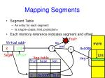 mapping segments
