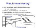 what is virtual memory