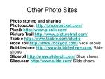 other photo sites