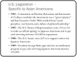 u s legislation specific to asian americans2