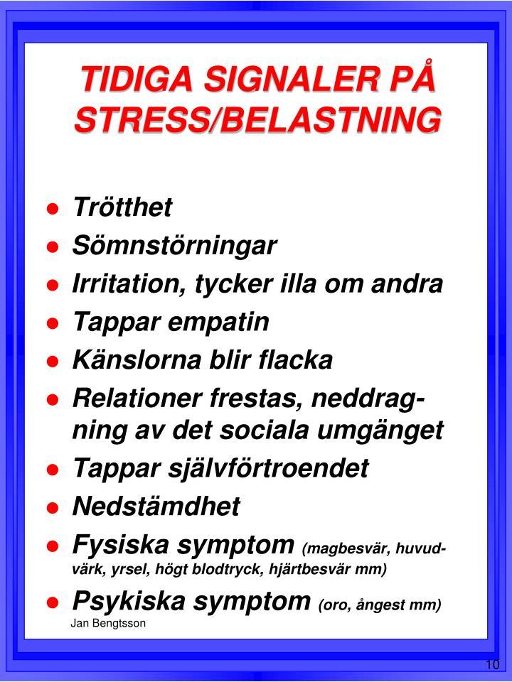 oro och ångest fysiska symtom