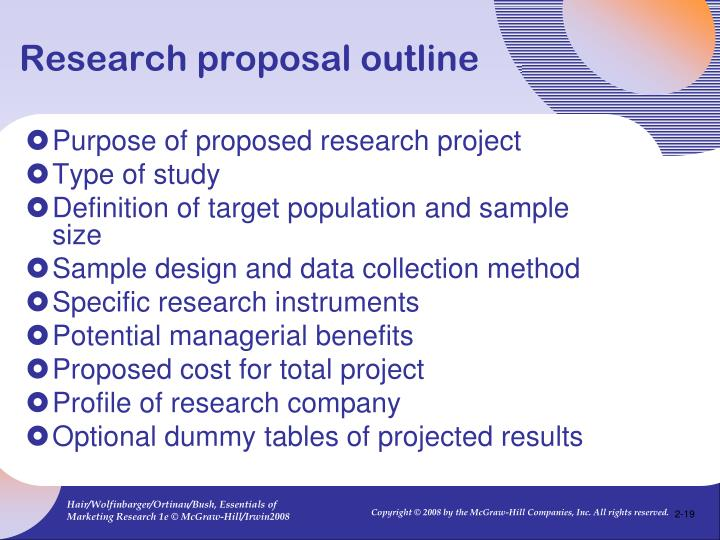 Ppt Chapter 3 The Marketing Research Process And Proposals