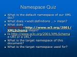 namespace quiz
