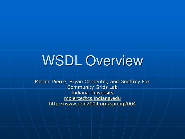 wsdl overview n.