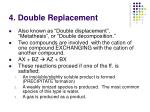 4 double replacement