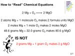 how to read chemical equations