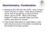stoichiometry combination