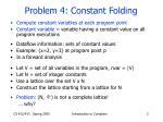 problem 4 constant folding