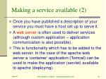 making a service available 2