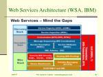 web services architecture wsa ibm