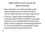 high quality access routes 2 apprenticeship