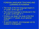 foreign language teaching and learning in romania