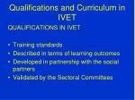 qualifications and curriculum in ivet1