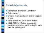 social adjustments