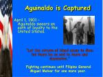 aguinaldo is captured