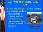 guerrilla war phase 1900 1902